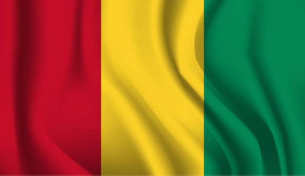 Sventolando la bandiera della guinea. sventolando la bandiera della guinea astratto