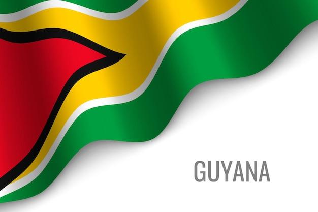 Sventolando la bandiera della guyana