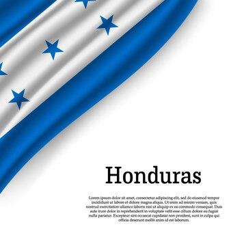 Sventolando la bandiera dell'honduras su bianco