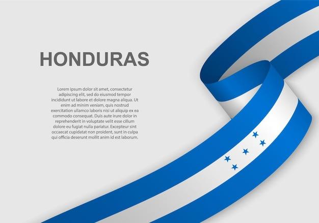 Sventolando la bandiera dell'honduras.