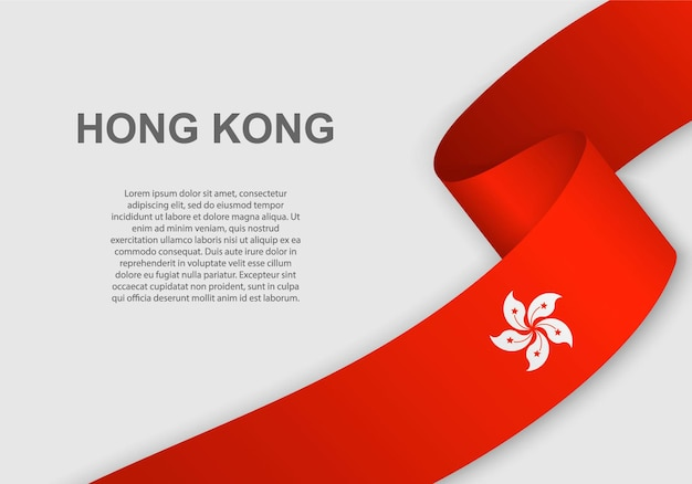 Sventolando la bandiera di hong kong.