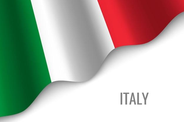 Sventolando la bandiera dell'italia