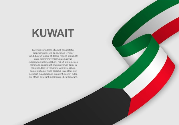 Sventolando la bandiera del kuwait.