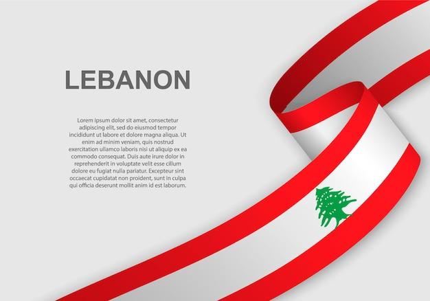 Sventolando la bandiera del libano.