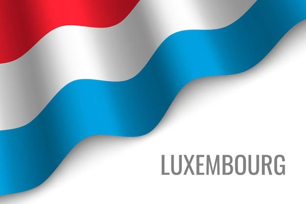 Sventolando la bandiera del lussemburgo