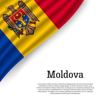 Sventolando la bandiera della macedonia su bianco
