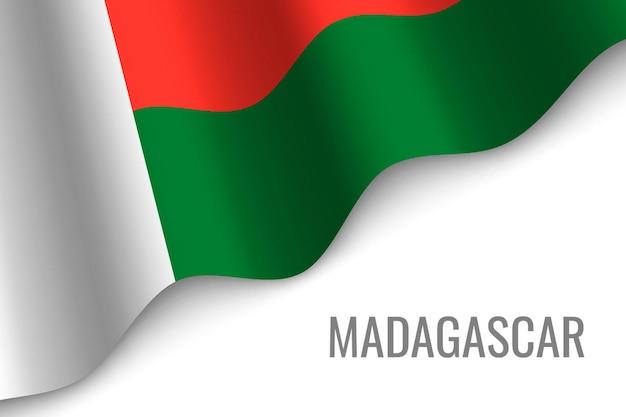 Sventolando la bandiera del madagascar