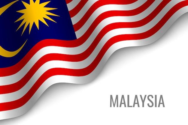 Sventolando la bandiera della malesia