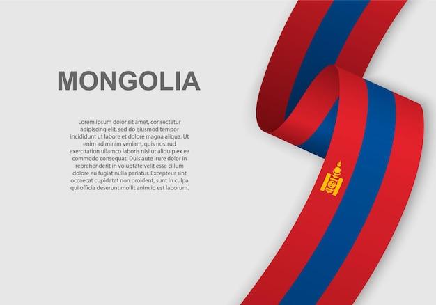 Sventolando la bandiera della mongolia.