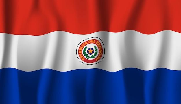 Sventolando la bandiera del paraguay. sventolando la bandiera del paraguay astratto