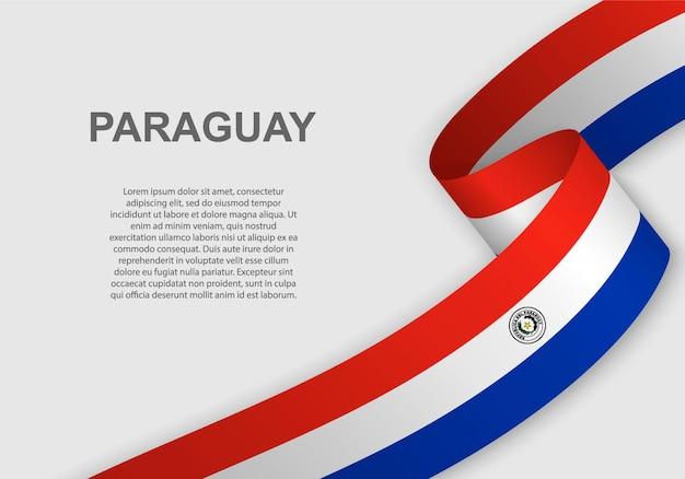 Sventolando la bandiera del paraguay.
