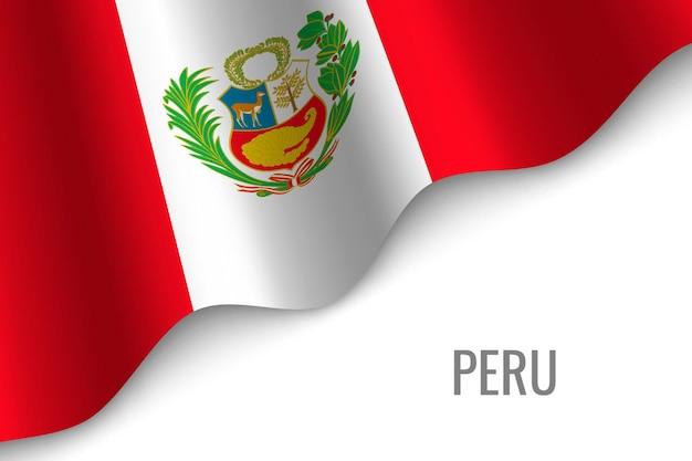 Sventolando la bandiera del perù