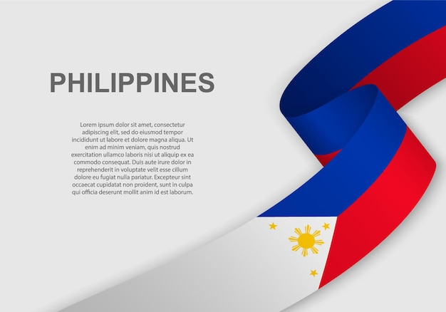 Sventolando la bandiera delle filippine.