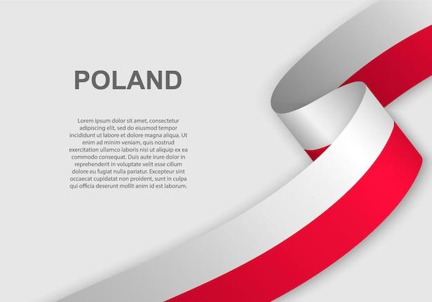 Sventolando la bandiera della polonia.