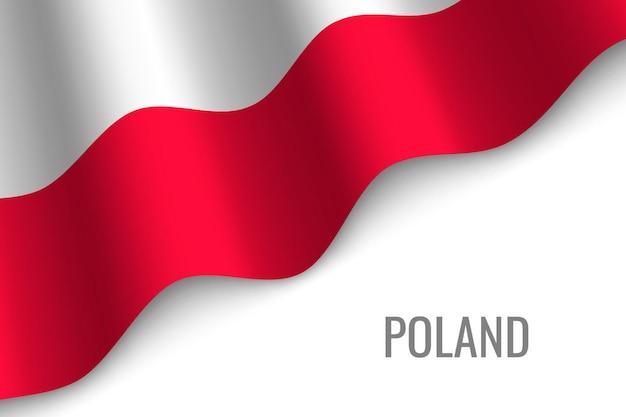 Sventolando la bandiera della polonia