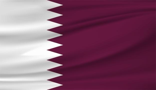 Sventolando la bandiera del qatar