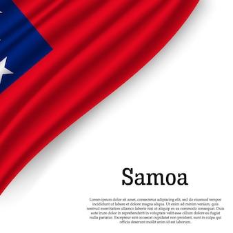 Sventolando la bandiera di samoa