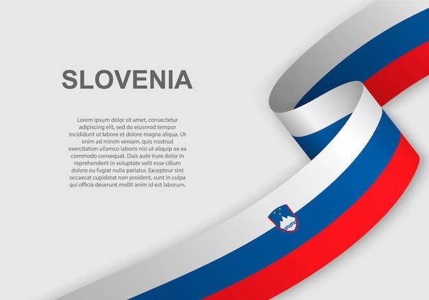 Sventolando la bandiera della slovenia.