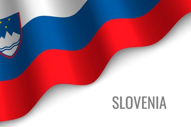 Sventolando la bandiera della slovenia