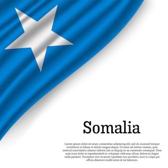 Sventolando la bandiera della somalia su bianco