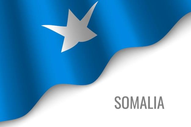 Sventolando la bandiera della somalia
