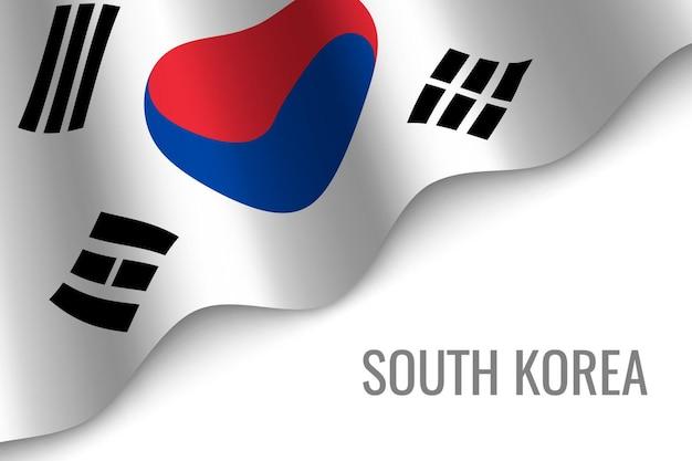 Sventolando la bandiera della corea del sud