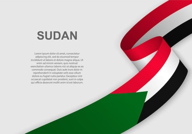 Sventolando la bandiera del sudan.
