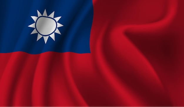 Sventolando la bandiera della taiwan sventolando la bandiera di taiwan sfondo astratto
