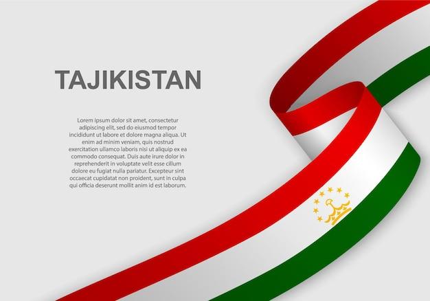 Sventolando la bandiera del tagikistan.