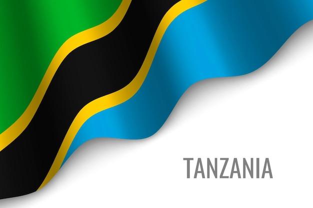 Sventolando la bandiera della tanzania