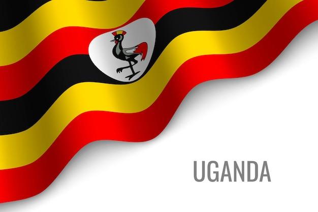 Sventolando la bandiera dell'uganda