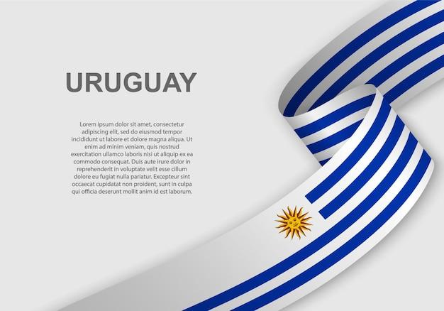 Sventolando la bandiera dell'uruguay.