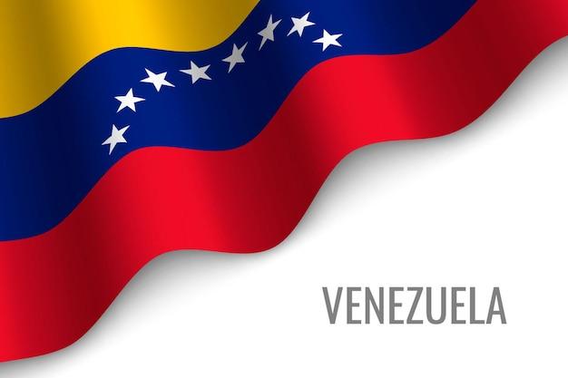 Sventolando la bandiera del venezuela