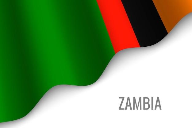 Sventolando la bandiera dello zambia