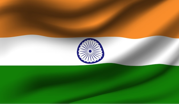 Sventolando l'india bandiera astratta illustrazione