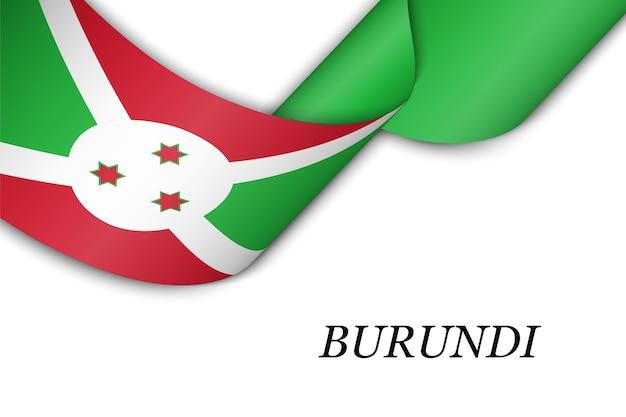 Sventolando in nastro o banner con bandiera del burundi.