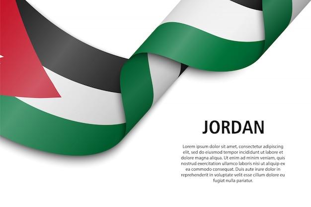 Sventolando nastro o banner con bandiera