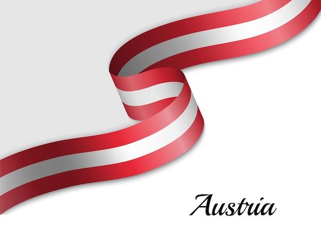 Sventolando la bandiera del nastro dell'austria
