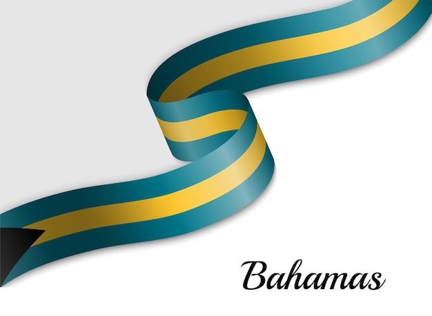Sventolando la bandiera del nastro delle bahamas