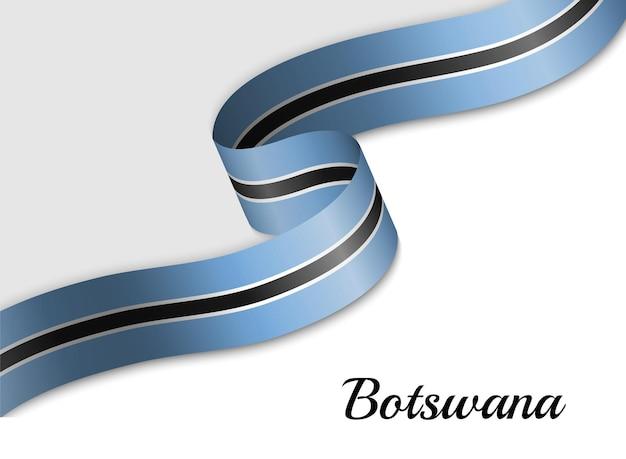 Sventolando la bandiera del nastro del botswana