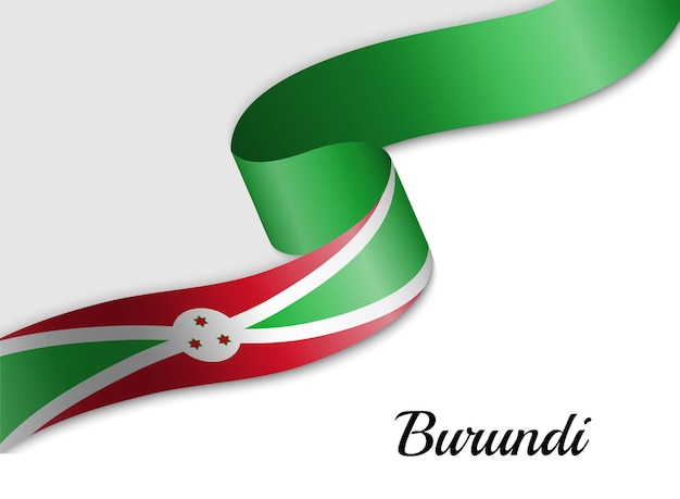 Sventolando la bandiera del nastro del burundi