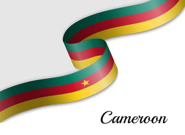 Sventolando la bandiera del nastro del camerun