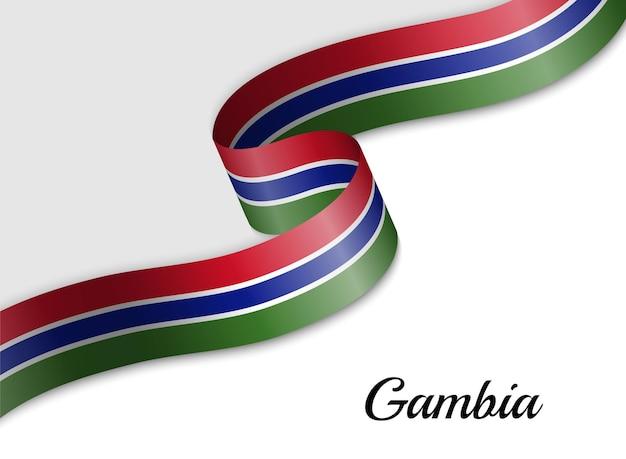 Sventolando la bandiera del nastro della gambia