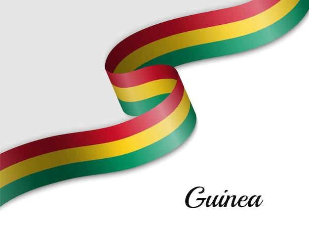 Sventolando la bandiera del nastro della guinea