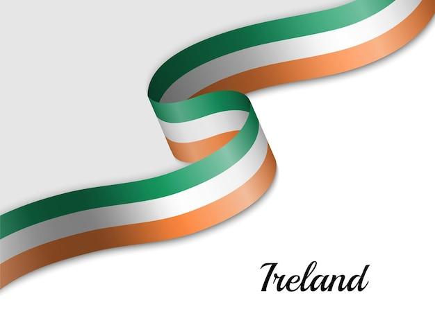 Sventolando la bandiera del nastro dell'irlanda