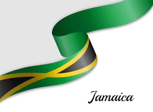 Sventolando la bandiera del nastro della giamaica