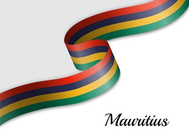 Sventolando la bandiera del nastro delle mauritius