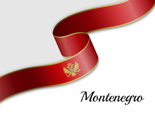 Sventolando la bandiera del nastro del montenegro