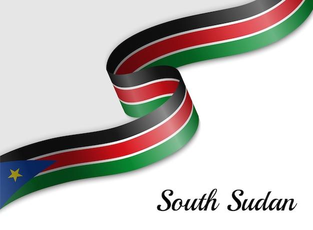 Sventolando la bandiera del nastro del sud sudan