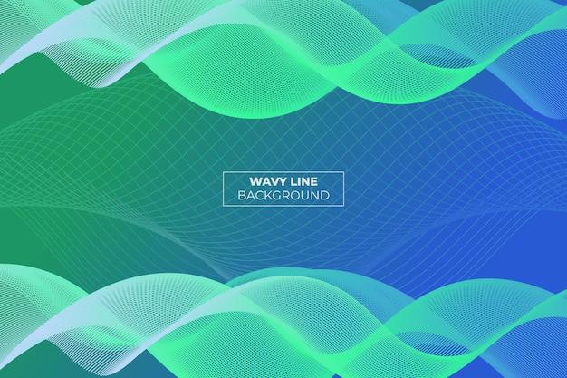 Corsia ondulata gradiente astratto sfondo verde e blu